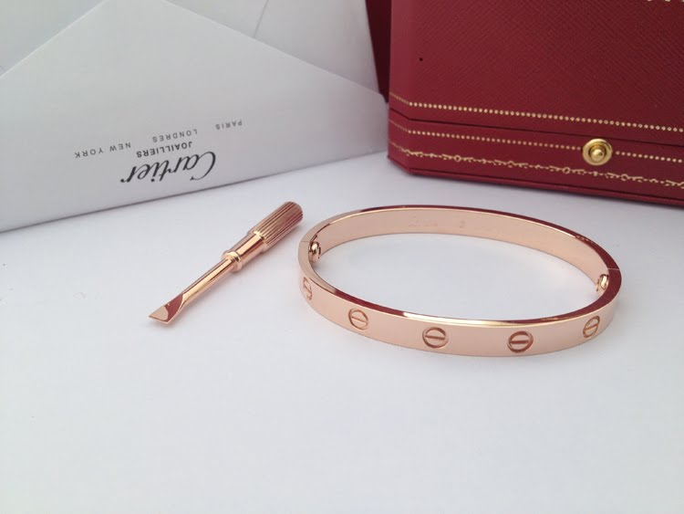Cartier LOVE Bracelet Rose Gold Size 17cm