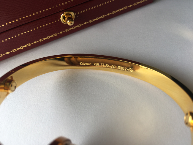the latest Cartier Love Bracelet Serial Numbers